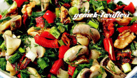 Köz Biberli Mantar Salatası Tarifi