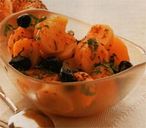 Baharatlı Patates ve Zeytin Salatası