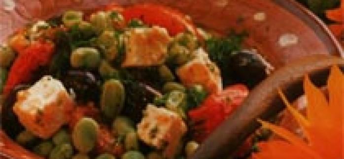 Bakla ve Feta Peynirli Salata Tarifi