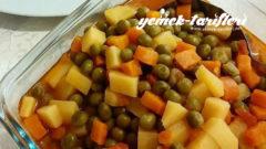 Havuçlu Bezelyeli Patates Yemeği