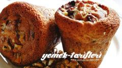 Kayısılı Cevizli Muffin Tarifi