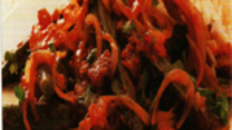 Domatesli Bamya Yahnisi
