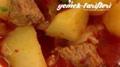 Güveçte Etli Patates