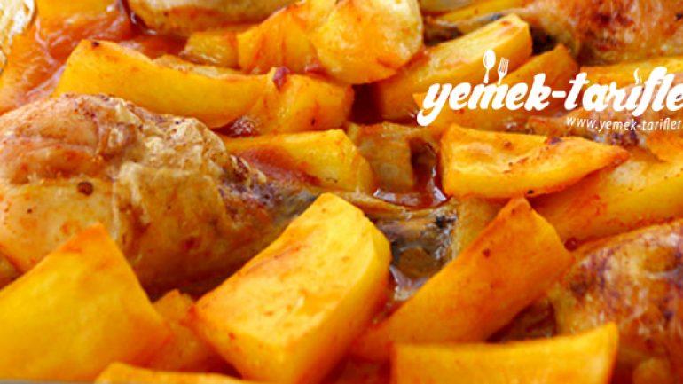 Fırında Tavuk Butlu Patates Tarifi