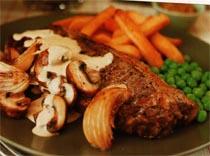 Kremalı Kızarmış Biftek