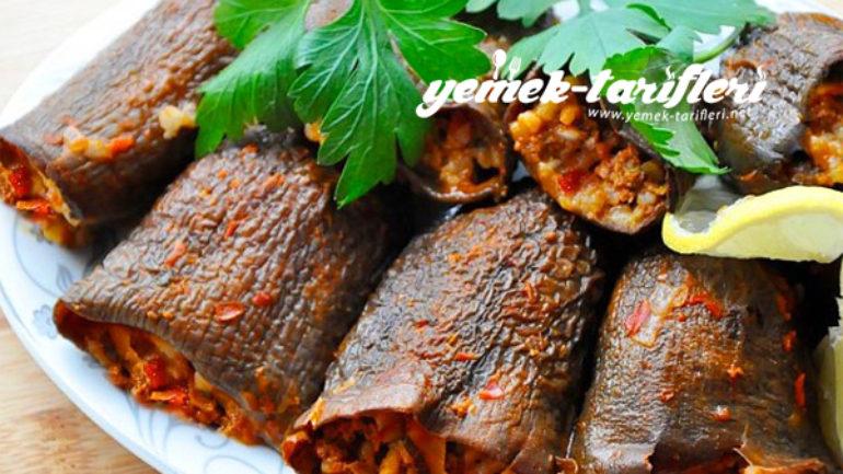 Kuru Patlıcanlı Dolma Tarifi