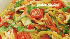 Renkli Biber Salatası